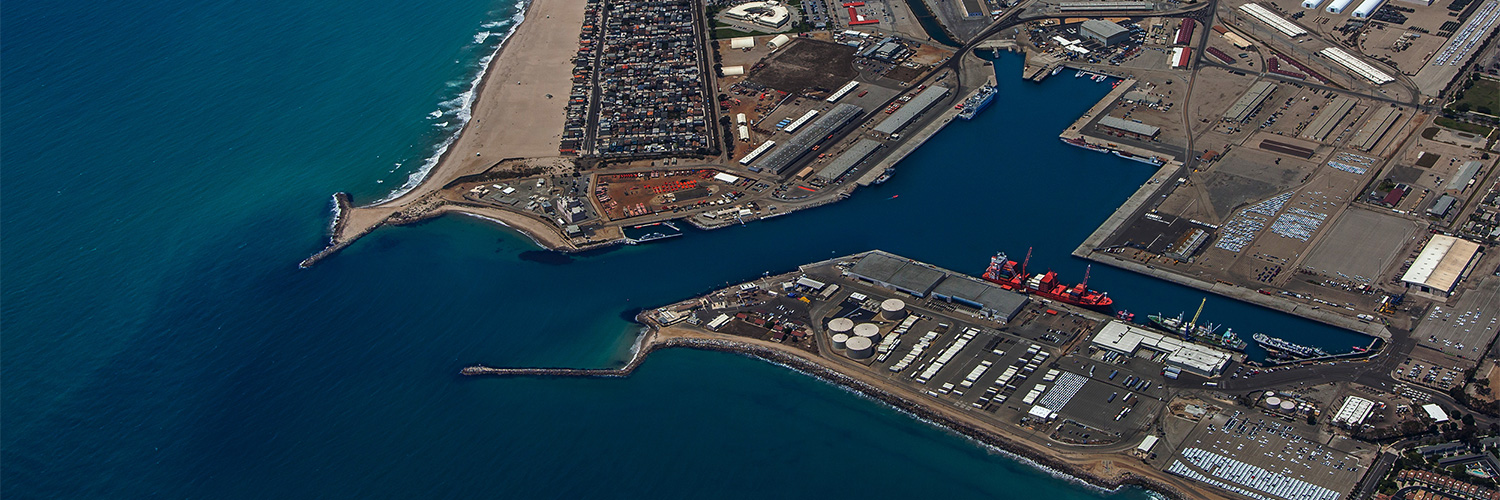 Aerial view of Hueneme Port