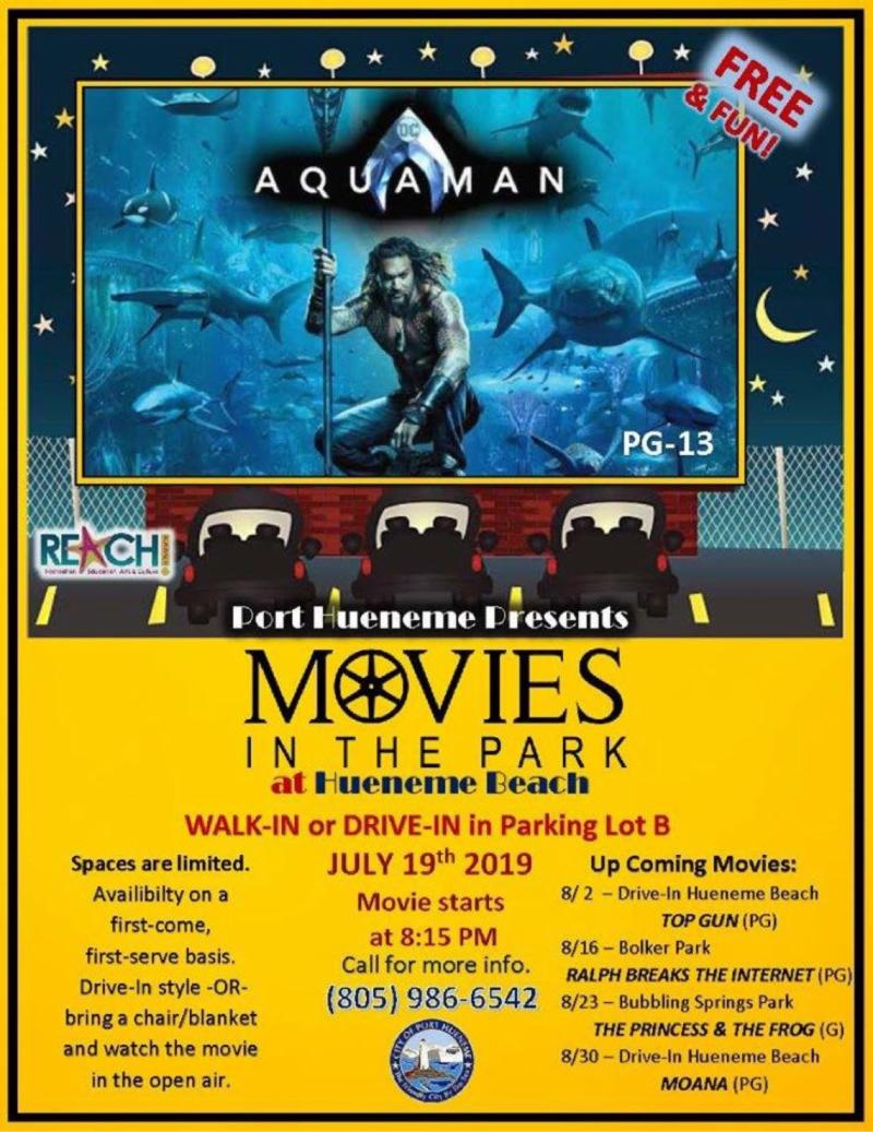 2019 Movies in the Park at Hueneme Beach