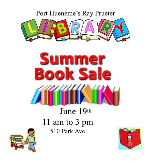 graphic for library summer book sale 2021